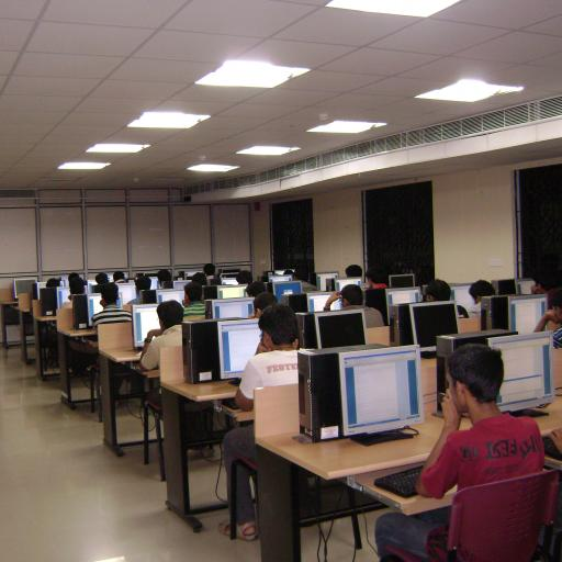 A room in which students take an online test