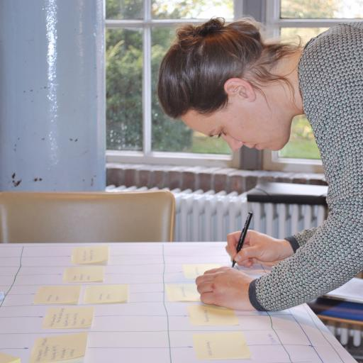 Picture of Boukje van Reijn working on her project