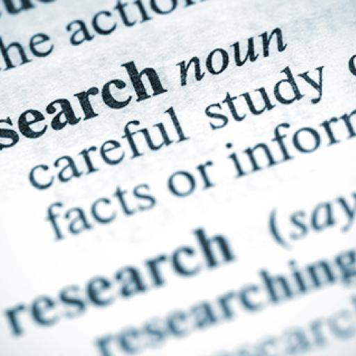 picture of the word research in a dictionary